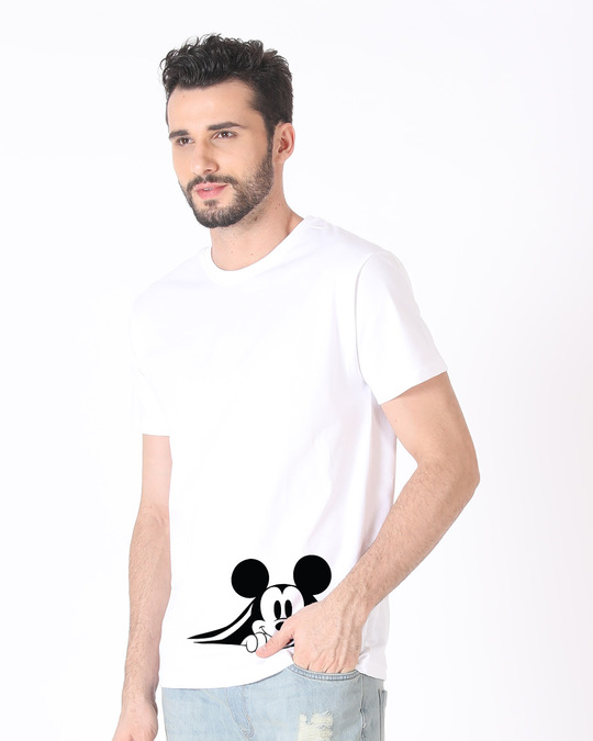 Shop Coming Through Mickey Half Sleeve T-Shirt (DL)-Full