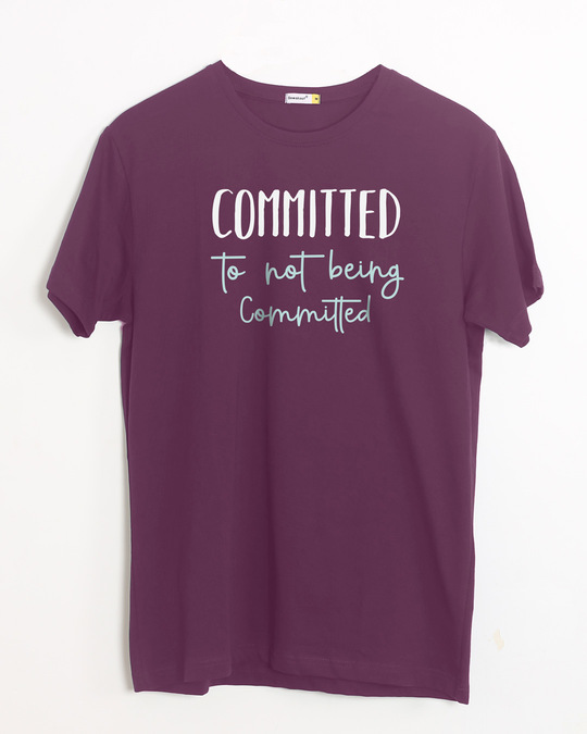 Shop Committed Half Sleeve T-Shirt-Front