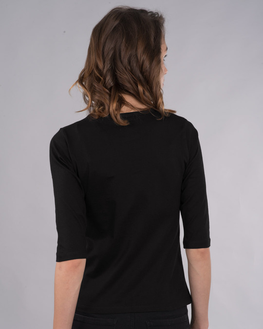Shop Compass Gradient Round Neck 3/4th Sleeve T-Shirt-Back