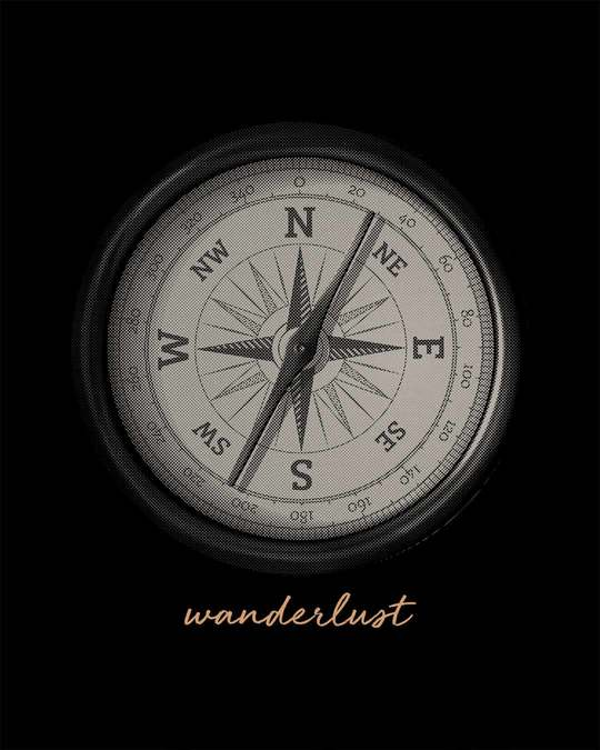 Shop Compass Wanderlust Half Sleeve T-Shirt
