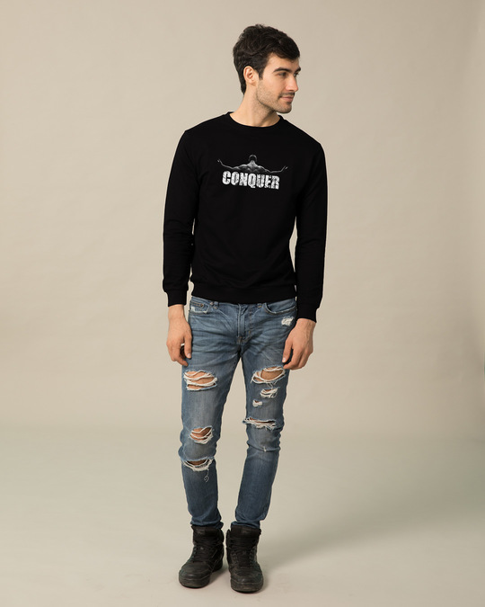 Shop Conquer The World Sweatshirt