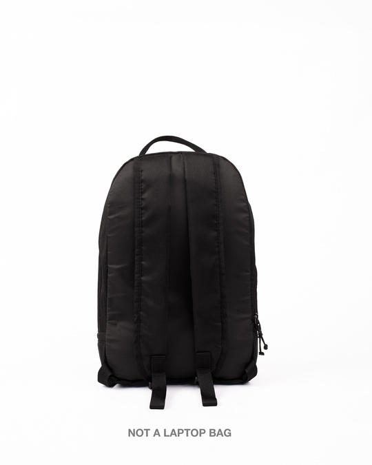 Shop Controller Canvas Printed Small Backpack Black-Design