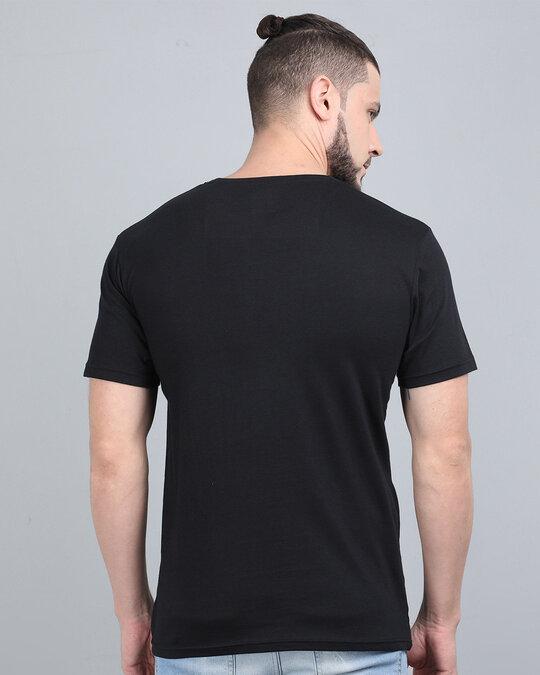 Shop Pocket Design T Shirt Black-Back