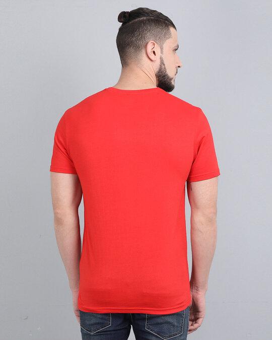 Shop Pocket Design T Shirt Red-Back