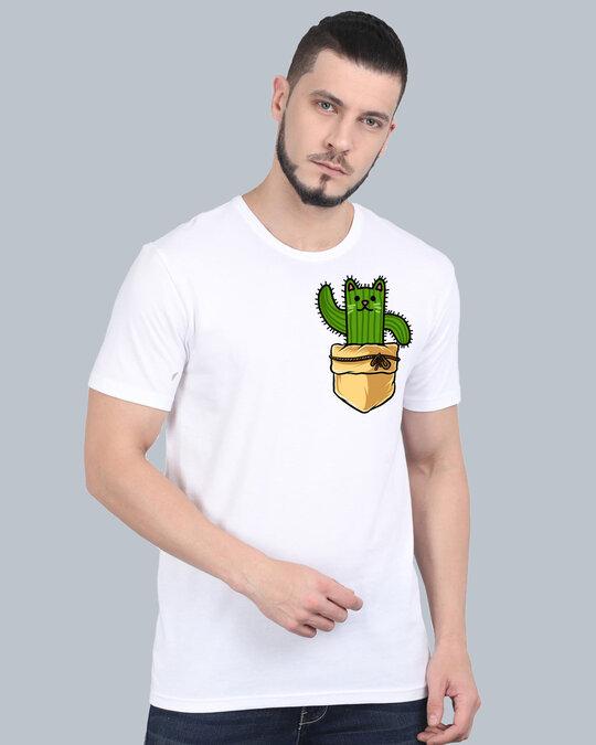 Shop Pocket Design T Shirt White-Full