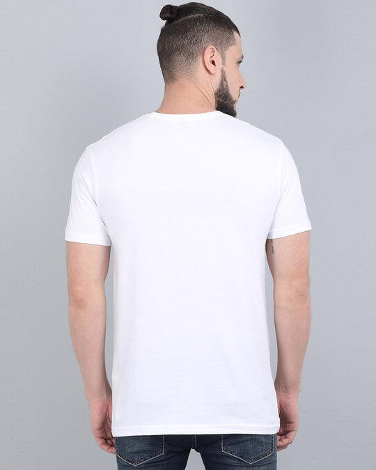 Shop Pocket Design T Shirt White-Back