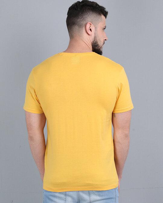 Shop Pocket Design T-Shirt Yellow-Back