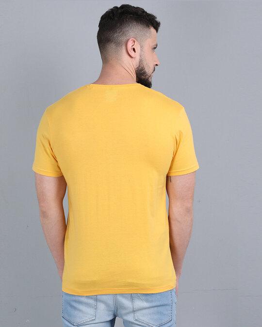 Shop Pocket Design T Shirt Yellow