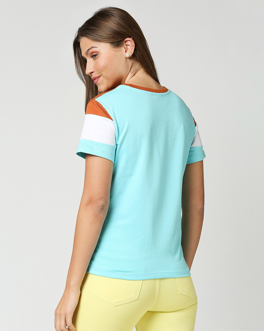 Shop Cool Apple Color Block Printed T-Shirt-Full
