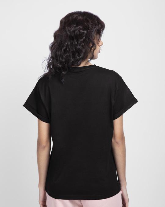 Shop Cool Blooded Boyfriend T-Shirt (GOLD PRINT)-Back