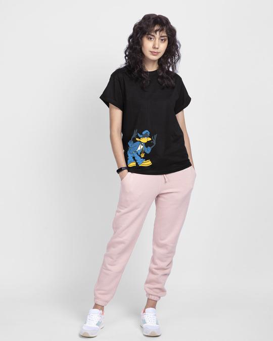 Shop Cool Daffy Boyfriend T-Shirt (LTL) Black-Design