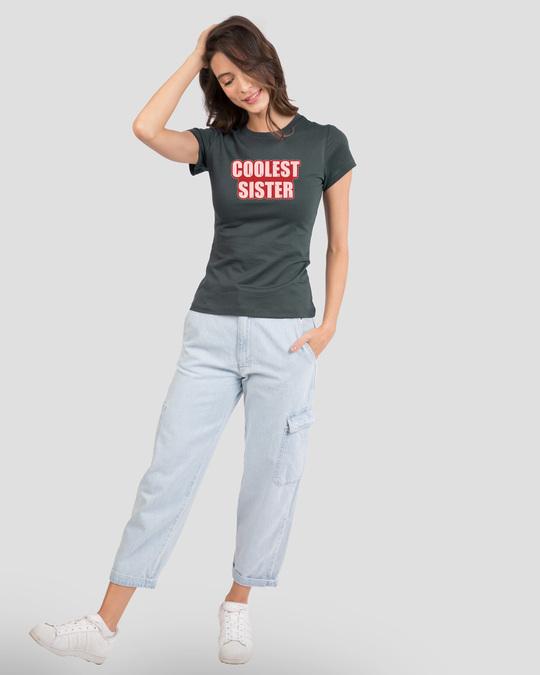 Shop Coolest Sister Half Sleeve T-shirt-Design