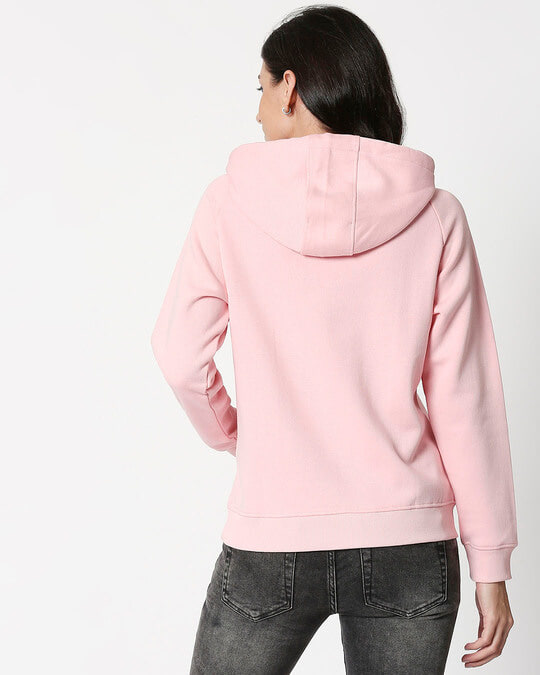 Shop Coral Blush Basic Hoodie Sweatshirt-Full