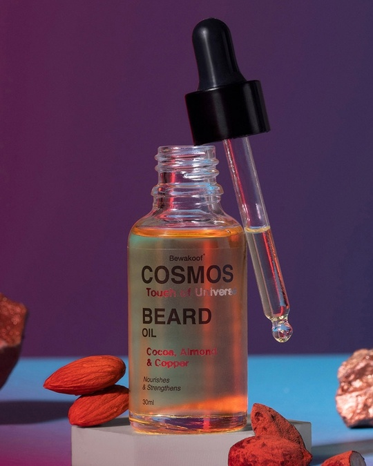Shop Beard Oil By Bewakoof With Cocoa Almond Extract With Real Copper 30ml-Front
