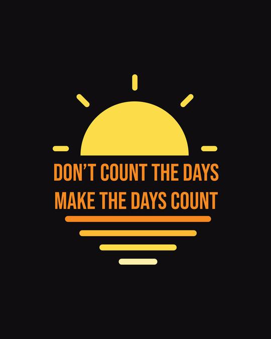 Shop Count Days  Half Sleeve Tshirt Black
