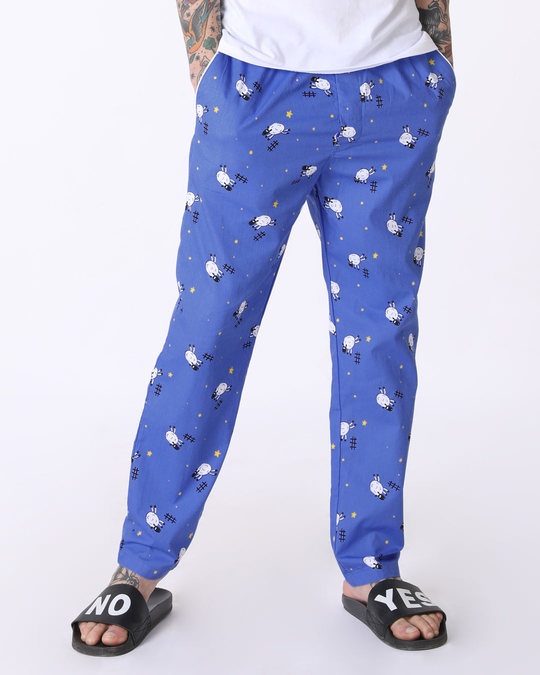 Shop Counting Sheep All Over Printed Pyjama-Front
