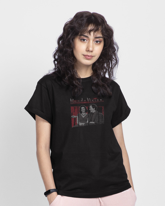 Shop Couple Boyfriend T-Shirts (WVL)-Back