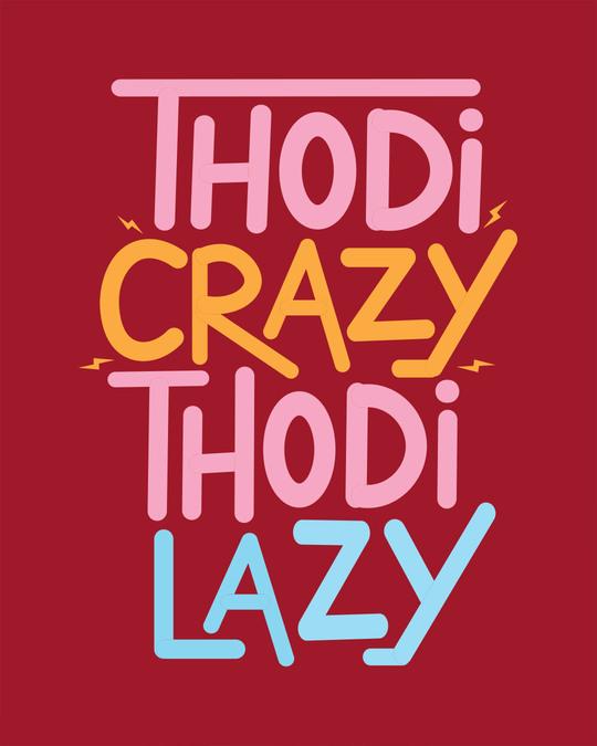 Shop Crazy And Lazy Boyfriend T-Shirt