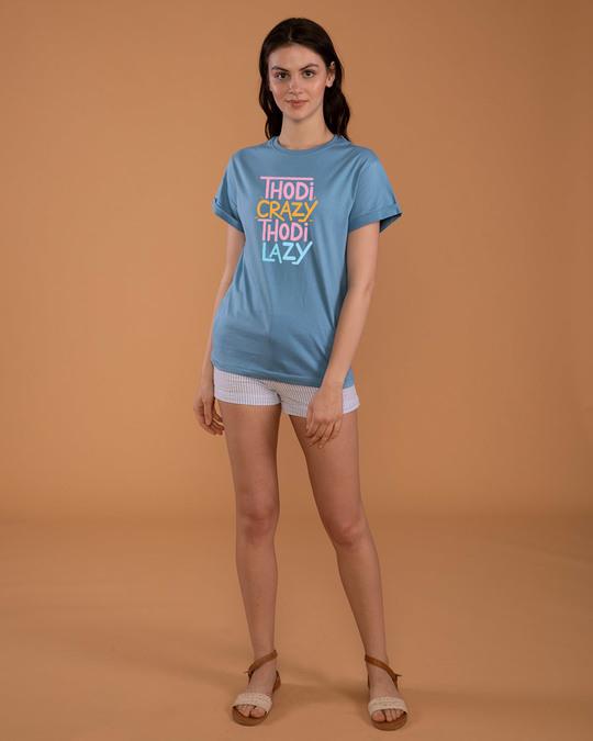 Shop Crazy And Lazy Boyfriend T-Shirt-Full