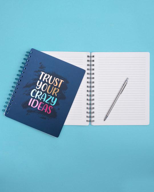 Shop Crazy Ideas Spiral Notebook-Back