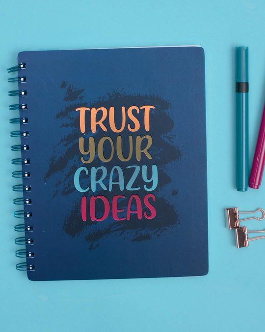 Shop Crazy Ideas Spiral Notebook