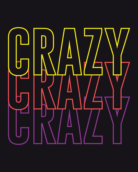 Shop Crazy Neon Half Sleeve T-Shirt-Full