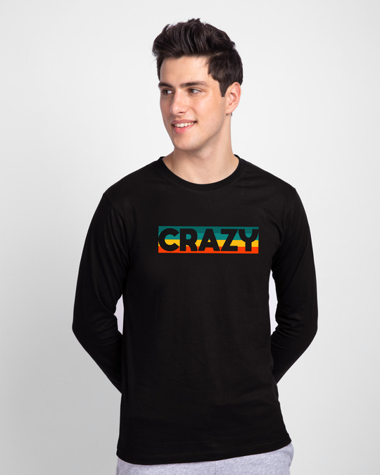 Shop Crazy Retro Full Sleeve T-Shirt-Front
