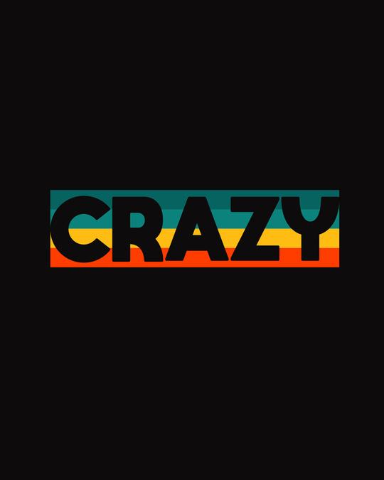 Shop Crazy Retro Half Sleeve T-Shirt-Full