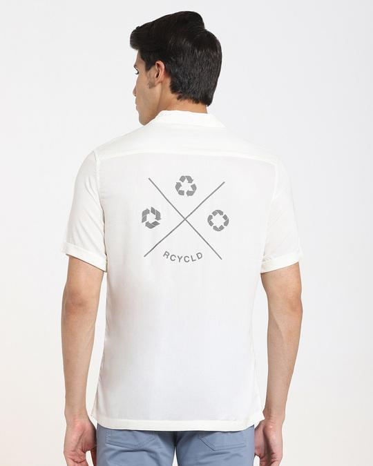 Shop Cream Men's Half Sleeves Shirt-Full