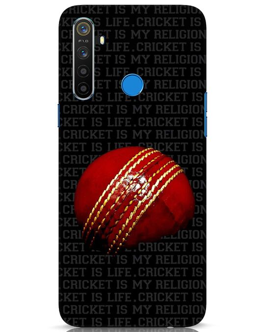 Shop Cricket Is Life & Religion Realme 5 Mobile Cover-Front