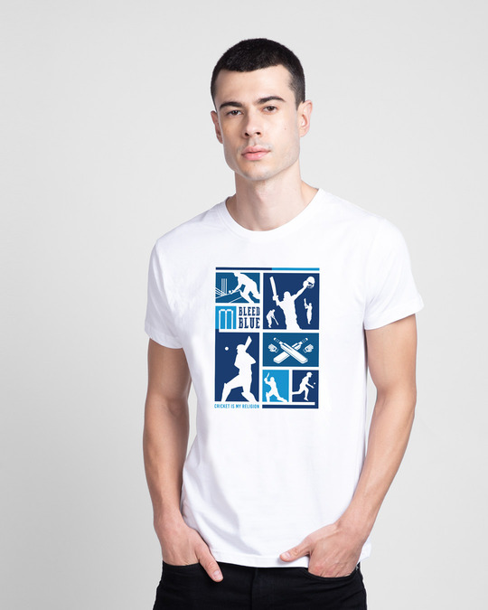 Shop Cricket Is Life  Half Sleeve T-Shirt White-Front