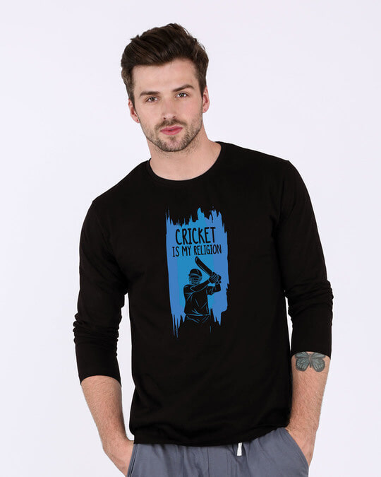 Shop Cricket Is My Religion Full Sleeve T-Shirt-Front