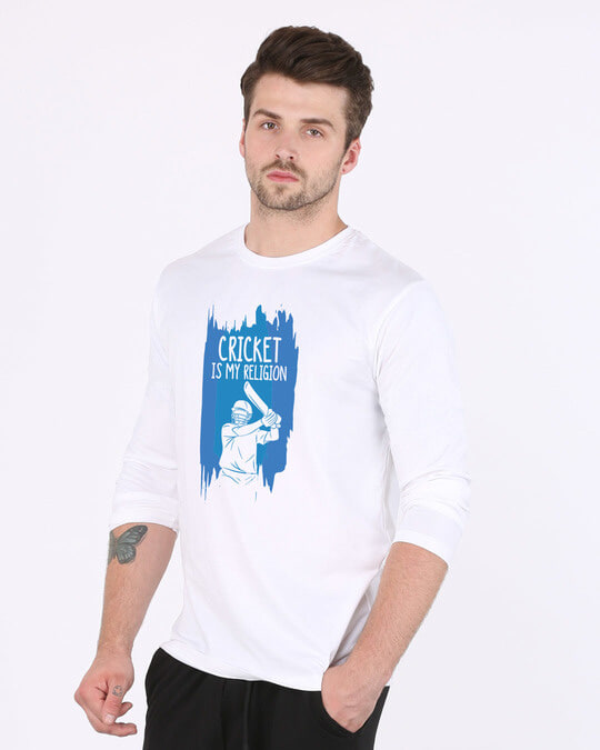 Shop Cricket Is My Religion Full Sleeve T-Shirt-Back