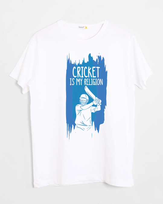 Shop Cricket Is My Religion Half Sleeve T-Shirt-Front