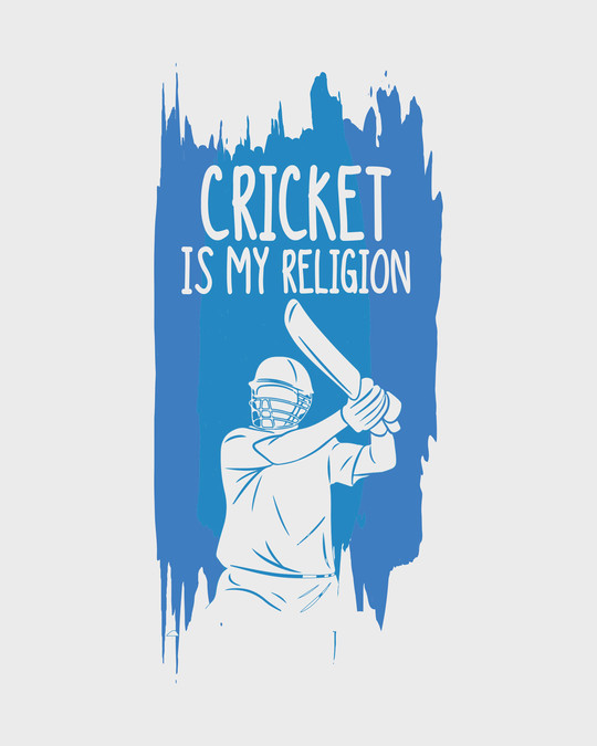Shop Cricket Is My Religion Round Neck 3/4th Sleeve T-Shirt