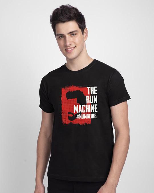 Shop Cricket Machine  Half Sleeve T-Shirt Black-Front