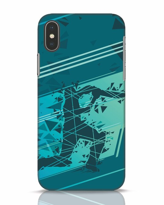 Shop Cricketer Abstract iPhone X Mobile Cover-Front