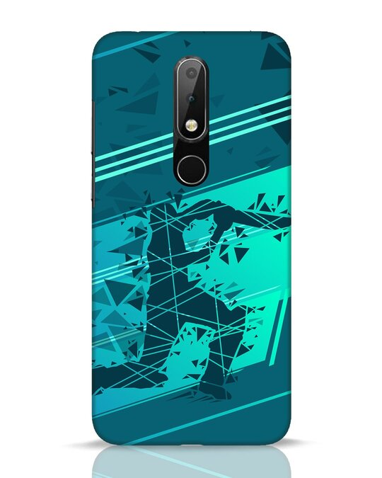 Shop Cricketer Abstract Nokia 6.1 Plus Mobile Cover-Front