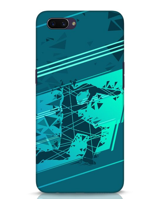 Shop Cricketer Abstract Oppo A3S Mobile Cover-Front