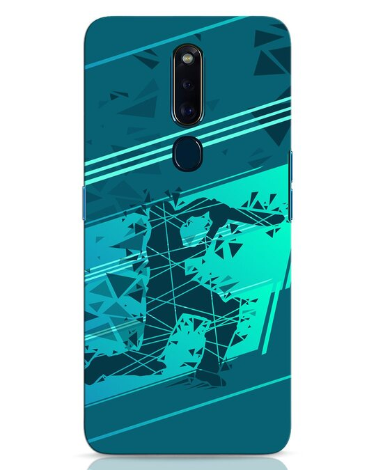 Shop Cricketer Abstract Oppo F11 Pro Mobile Cover-Front