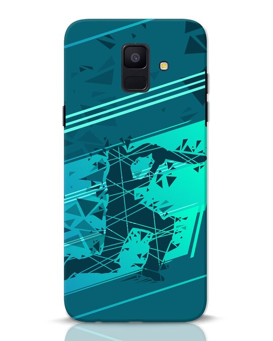 Shop Cricketer Abstract Samsung Galaxy A6 2018 Mobile Cover-Front