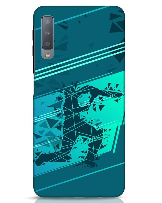 Shop Cricketer Abstract Samsung Galaxy A7 Mobile Cover-Front