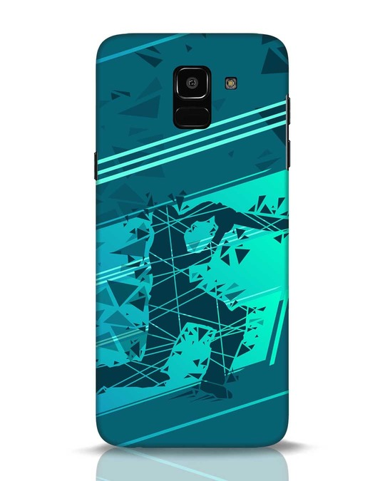 Shop Cricketer Abstract Samsung Galaxy J6 Mobile Cover-Front