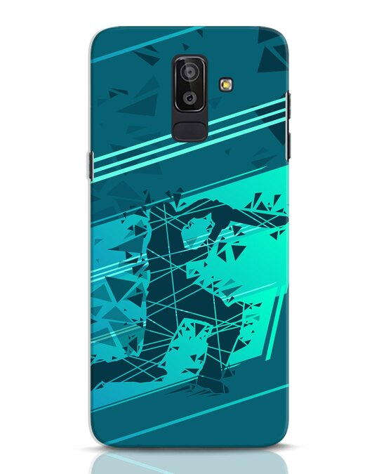 Shop Cricketer Abstract Samsung Galaxy J8 Mobile Cover-Front