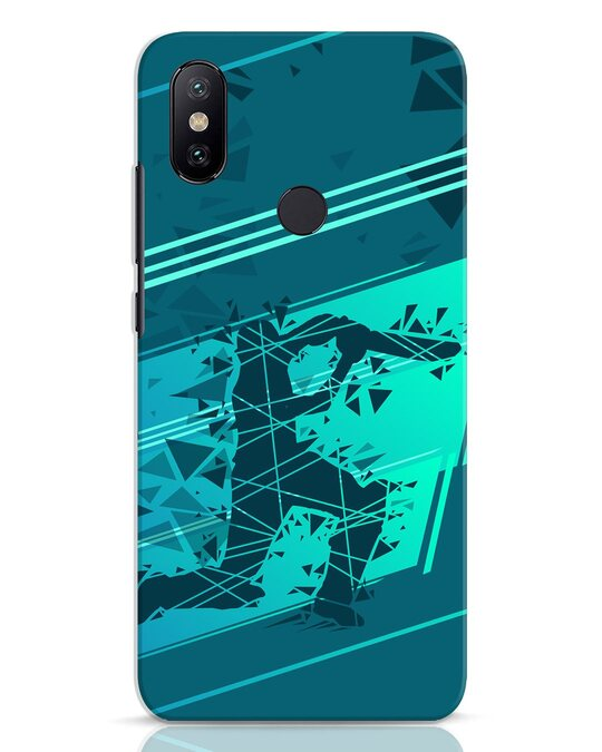 Shop Cricketer Abstract Xiaomi Mi A2 Mobile Cover-Front