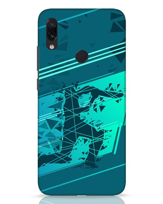 Shop Cricketer Abstract Xiaomi Redmi Note 7 Pro Mobile Cover-Front