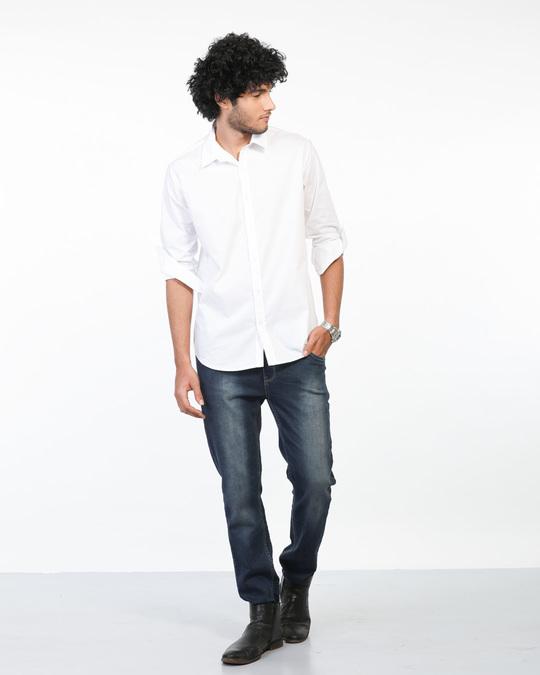 Shop Crisp White Regular Fit Shirt