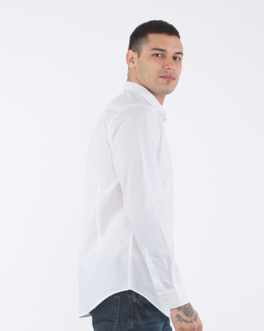 Shop Crisp White Slim Fit Shirt-Back