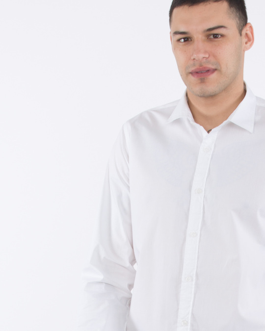 Shop Crisp White Slim Fit Shirt