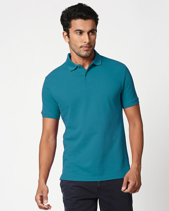 Shop Croc Green Classic Polo-Front
